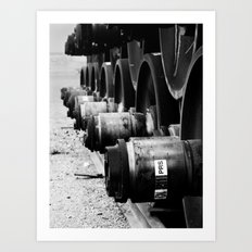 Rail Wheel Art Print