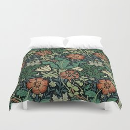 William Morris Compton Floral Art Nouveau Pattern Duvet Cover