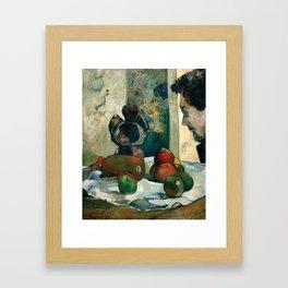 Paul Gauguin - Still Life with Profile of Laval (1886) Framed Art Print
