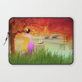 Geisha am Meer Laptop Sleeve