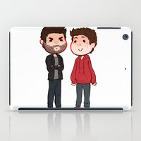 sterek iPad Cases featuring Sterek Chibis by Dimension Bound