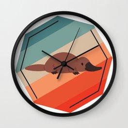 Platypus Colorful Wall Clock