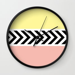 Black and white arrows Wall Clock