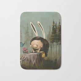 The Rabbit Considers Some Mushrooms Bath Mat