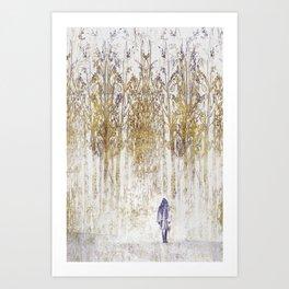 Birchwood Art Print