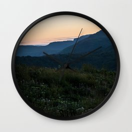 Grassy Mountaintops Wall Clock