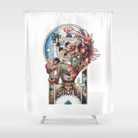 majora Shower Curtains featuring The song of Majora by Alejandra Vindas