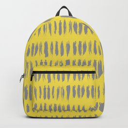 Bold Grunge Vertical Stripe Pattern 2 V1 Pantone 2021 Color Of The Year Illuminating Ultimate Gray Backpack