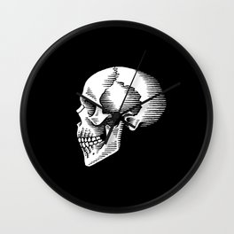 ye olde skull Wall Clock