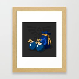 The Legend of Zelda Bomb Bag Framed Art Print