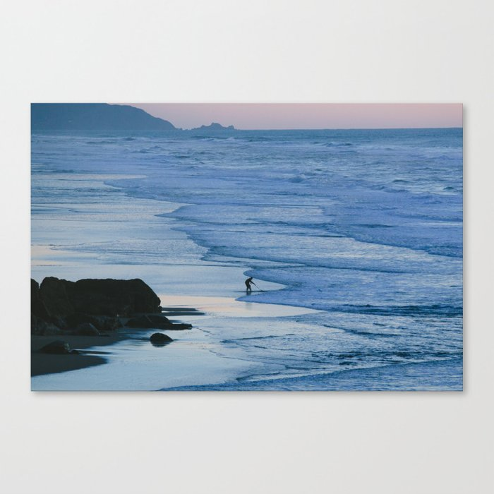 Ocean Beach Coastline Canvas Print