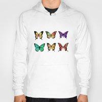 butterflies Hoodies featuring Butterflies by ShaMiLa