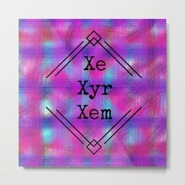 Xe/Xyr/Xem Pronouns Metal Print