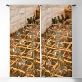 Empty dark glass bottles ready for bottling wine Blackout Curtain