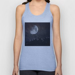 Starry moon  Unisex Tank Top