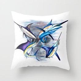 Canyon Masters Billfish Skull Design Throw Pillow