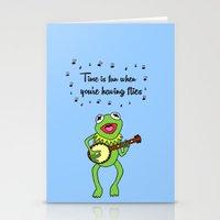 kermit Stationery Cards featuring Kermit having fun by BlackBlizzard