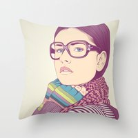 clear Throw Pillows featuring Just know who I am.... by CranioDsgn