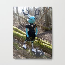Brunhilde & Little Geoff Metal Print