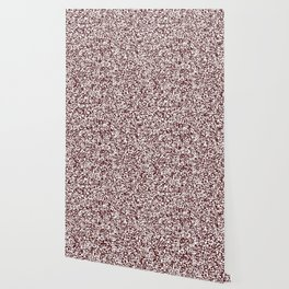 Tiny Spots - White and Bulgarian Rose Red Wallpaper