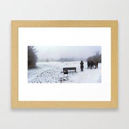 The Frost Gathering Framed Art Print
