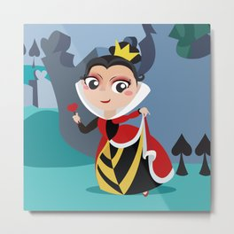 Queen of hears Metal Print