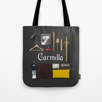 carmilla Tote Bags featuring Carmilla Items by CLM Design