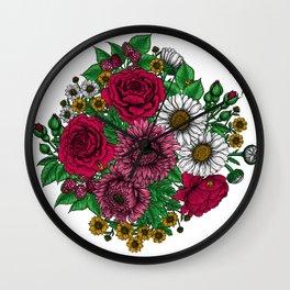Chintz- Autumn bouquet Wall Clock