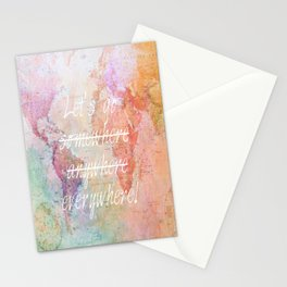Let's Go Everywhere Stationery Cards