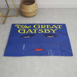 The Great Gatsby vintage book cover - Fitzgerald Rug