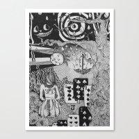 alice's dreams Canvas Print