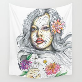 Nostalgia in Bloom Wall Tapestry