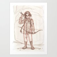 katniss Art Prints featuring Katniss by AndytheLemon
