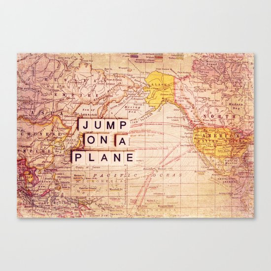jump on a plane Canvas Print