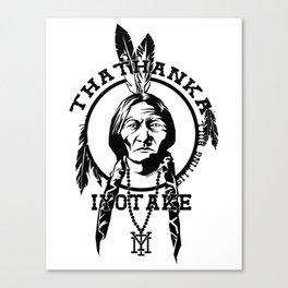 Thathanka Iyotake (The Indians) Canvas Print
