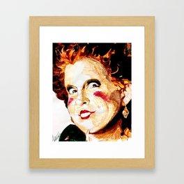 Hocus Pocus: Winifred Sanderson Framed Art Print