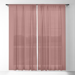 Solid Chili oil pantone Sheer Curtain
