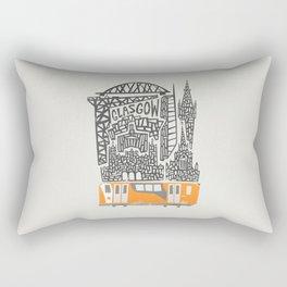 Glasgow Cityscape Rectangular Pillow