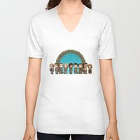 stargate V-neck T-shirts featuring Cast of Stargate Atlantis by Ravenno