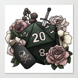 Rogue Class D20 - Tabletop Gaming Dice Canvas Print