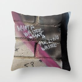 Hare Row - What A Waster Throw Pillow