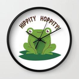 Hippity Hoppity Frog on a Lilly Pad Wall Clock