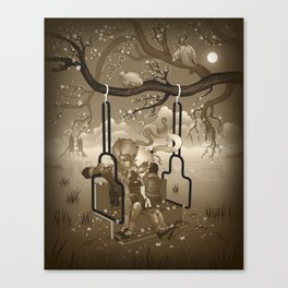 Playground Swing Canvas Print