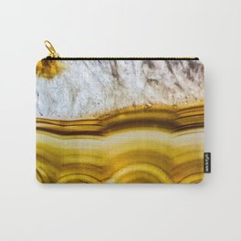 Amber Honey Agate Earth Carry-All Pouch