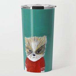disheveled kitty Travel Mug