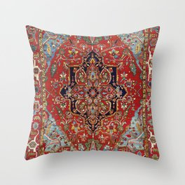 Heriz  Antique Persian Rug Print Throw Pillow