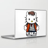 marty mcfly Laptop & iPad Skins featuring Hello Marty by Jedi Candice
