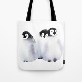 Fluffy Penguins - Baby Animals Tote Bag