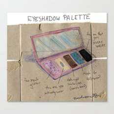 Diagram of an Eyeshadow Palette Canvas Print