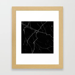 black marble I Framed Art Print